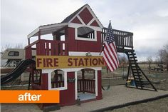 Before & After: A Fire Station Playset — Girl in Air