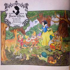 白雪姫 こびとって指4本なんだね! #大人の塗り絵 #コロリアージュ#塗り絵 #ディズニーガールズ #ディズニーガールズカラーリングブック #白雪姫
