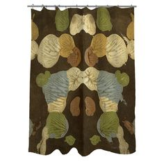 Manual Woodworkers & Weavers Rorschach Abstract Shower Curtain