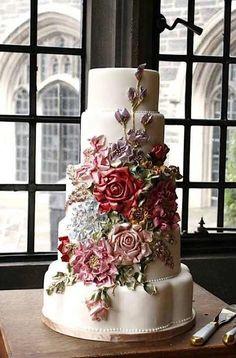 103 Cutest Wedding Cake Trends of These Days! Beautiful Wedding Cakes, Gorgeous Cakes, Pretty Cakes, Amazing Cakes, Extravagant Wedding Cakes, Decoration Evenementielle, Cake Trends, Wedding Cake Inspiration, Wedding Ideas