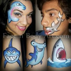 Face paint sharks. I find it super cute!!!