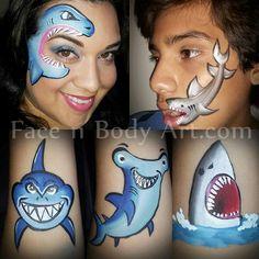Face paint sharks