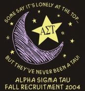 Alpha Sigma Tau, being at the top isn't always lonely ;)