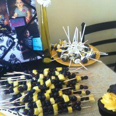 Bumble bee party - fruit sticks