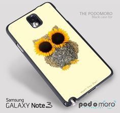 Hoot Day Owl Sunflower for iPhone 4/4S, iPhone 5/5S, iPhone 5c, iPhone 6, iPhone 6 Plus, iPod 4, iPod 5, Samsung Galaxy S3, Galaxy S4, Galaxy S5, Galaxy S6, Samsung Galaxy Note 3, Galaxy Note 4, Phone Case