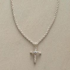 DIAMOND-KISSED CROSS NECKLACE