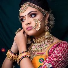 Look at me, I am getting ready for you. . DM for credit . #indianbridalmakeup #bridalmakeover #indiandulhan #indianweddingmakeup #makeupartistindia #bridalmakeupartistindia #bridalmakeupartist Best Bridal Makeup, Indian Bridal Makeup, Wedding Looks, Bridal Looks, Bold Eyebrows, Desi Bride, Purple Eyeshadow, Bride Photography, Beautiful Bride