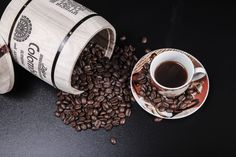 Beans and coffee