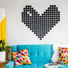 Use washi tape to create a fun wall design!
