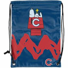 928422d7f Chicago Cubs Peanuts Zigzag Drawstring Backpack Chicago Shopping, Backpack  Online, Cubbies, Peanuts,