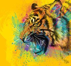 Cool Graffiti-esque Tiger Print...
