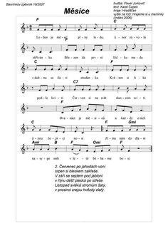 Měsíce Aa School, School Clubs, Preschool Themes, Preschool Crafts, Kids Songs, Kids And Parenting, Sheet Music, Kindergarten, Homeschool