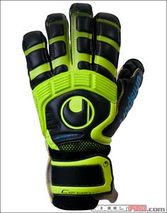 Uhlsport Cerberus Absolutgrip Handbett Goalkeeper Glove - Fluorescent Yellow with Cyan...$152.99