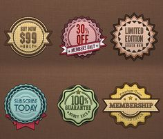Free Badge Designs in PSD and AI files
