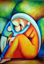 Resultado de imagen para pinturas acuarelas modernas Indian Art Paintings, Modern Art Paintings, Colorful Paintings, Mother Art, Cubism Art, Paint Designs, Painting Inspiration, Creative Art, Painting & Drawing