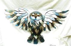 Owl sculpture Custom business decor custom office decor