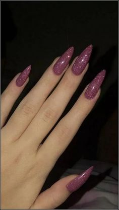 35 charming and beautiful purple nail designs charming purple nail designs How to apply nail polish? Nail polish in your friend's nails looks perfect, neve Plum Nails, Aycrlic Nails, Purple Nails, Hair And Nails, Coffin Nails, Pink Sparkle Nails, Burgendy Nails, Oxblood Nails, Nails Turquoise