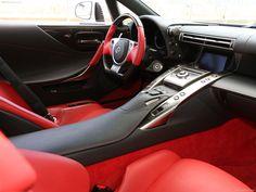 Lexus LFA interior.