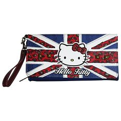 Hello Kitty England Wallet Coin Purse Card ID Photos Holder Large -- You can find more details by visiting the image link.