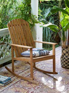 Rocking chair BERGONCE - Alinéa - Jeu concours Pinterest - A gagner : 500€ en bons d'achat ! Jouez sur : https://www.pinterest.com/alinea/jeu-en-exterieur/