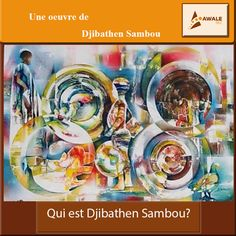 """#Focus Djibathen SAMBOU est Diola, héritier des secrets du bois sacré casamançais, de la famille royale de Kagnoute.  Son école, ses beaux arts sont la rue. Il aime la richesse, les clairs-obscurs, en capte les vibrations puis les rend sur son support.  Né en 1953 au Sud du Sénégal à Oussouye, il est peintre depuis 1968 et a participé depuis 1972 à des nombreuses expositions au Sénégal et à l'international.  Ses oeuvres portent toutes un nom évoquant les aspirations de l'auteur: """"Quand je…"""