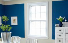 Strategic bands and blocks of paint can add height and architecture to a plain space White Window Trim, Block Painting, Window Casing, Carpentry Projects, Nursery Design, Paint Cans, Diy Home Decor, Interior Design, Furniture