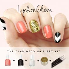 Lychee Glam all-in-one nail art kit!
