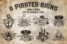 8 Pirates Signs from DesignBundles.net