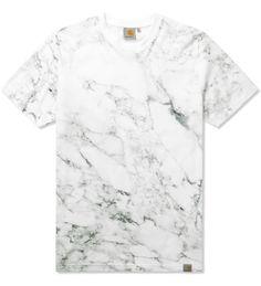 Carhartt WORK IN PROGRESS White S/S Marble T-Shirt | HYPEBEAST Store. Shop Online for Men's Fashion, Streetwear, Sneakers, Accessories