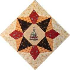 Country Rose Quilts: Block 13 on diagonal