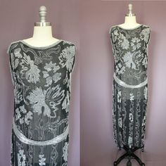 Hey, I found this really awesome Etsy listing at https://www.etsy.com/listing/238169991/1920s-flapper-beaded-gown