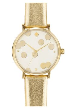 Get on my wrist! Kate Spade gold polka dot watch. $175 at http://rstyle.me/hdsbf9cz5