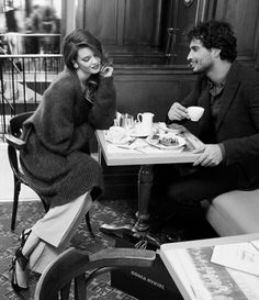 Because there can't be greater happiness then sharing good coffee and great conversation with the man you love.