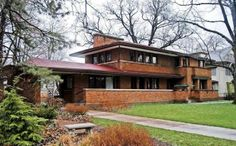 Harry Adams House. Oak Park, Illinois. 1913. Frank Lloyd Wright. Prairie Style.