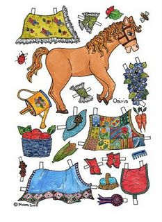 A whole bunch of cute horse paper dolls on this paper doll blog.