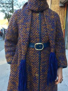 Bonnie Cashin turnlock coat with matching scarf