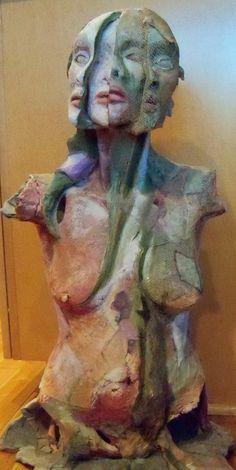 Ceramic Mixed media sculpture by jonislittledolls on Etsy, $3100.00