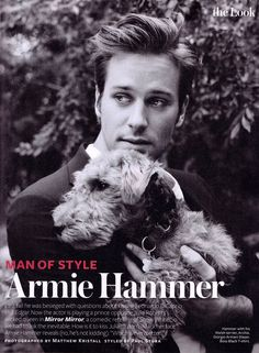 Armie Hammer -- only an adorable Terrier pup could upstage him.