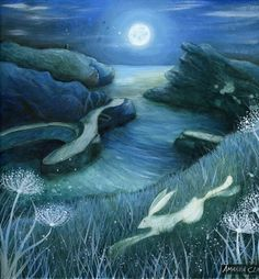Art print titled 'Boscastle' from an original painting by Amanda Clark.