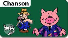 Musiques gratuites pour enfants, parents et enseignants. L'illustration de la chanson Bébé Cochon.