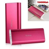 10400mAh Dual Batterioplader Powerbank til Smartphones - Magenta