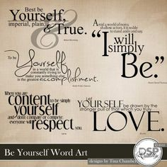 Be Yourself Word Art