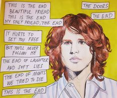 The Doors The End, Movin On, Beautiful Friend, Jim Morrison, Set You Free, Cool Artwork, Art For Sale, Watercolor Paintings, Laughter