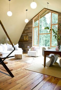 Interior of converted barn -LIVING house design design interior design decorating before and after Barn Living, Home And Living, Cozy Living, Modern Living, Style At Home, Converted Barn Homes, Architecture Design, Sweet Home, Barn Renovation