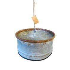 Industriële zinken hanglamp van Indusigns.