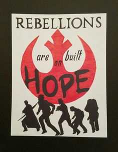 Hand drawn minimalist Rogue One character poster: Rebellions are built on hope || based on this pic: https://www.theodysseyonline.com/rogue-star-wars-story-finally-reflects-galaxy || #rogueone #rogue #one #rebellion #rebels #alliance #jyn #cassion #chirrut #baze #bohdi #rebellions #are #built #on #hope #star #wars #art #drawing #sharpie #builtonhope