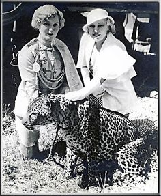 Mae West & lion-tamer Mabel Stark on the set of I'M NO ANGEL