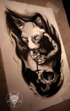 cat by AndreySkull.deviantart.com on @DeviantArt