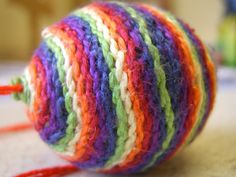 Waldorf ~ 3rd grade ~ Handwork ~ Project #1 ~ hand felted and stitched ball