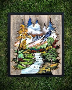 Pallet Painting, Painting On Wood, Wood Craft Patterns, Carved Wood Signs, Wood Burning Art, 3d Laser, Paper Artwork, Wood Creations, Picture On Wood